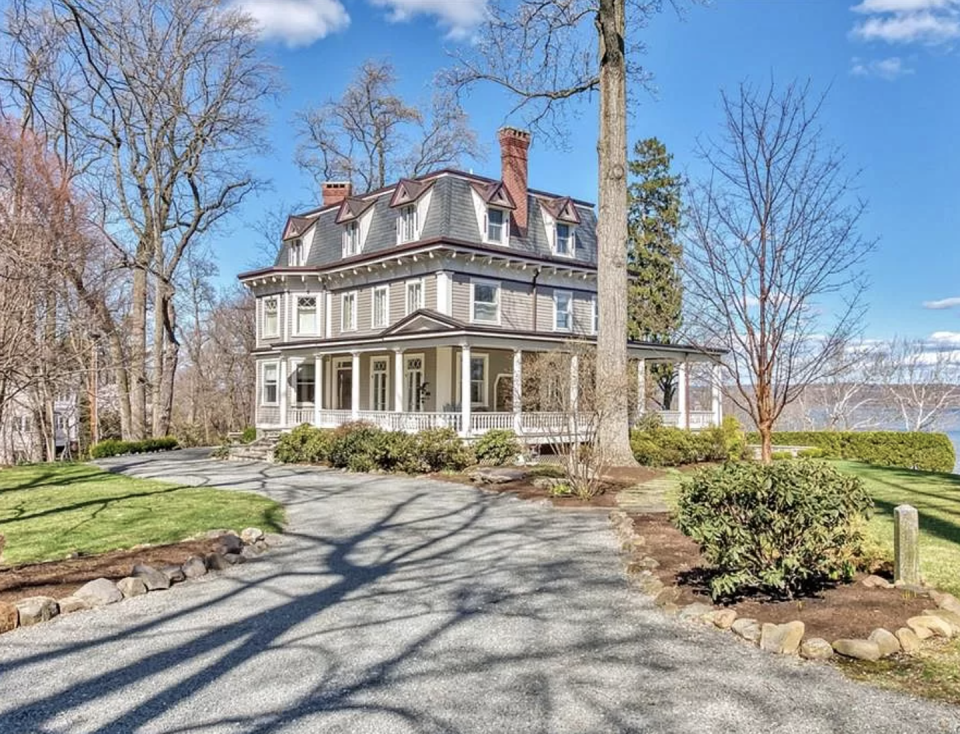 """<p>Good news, <em>Stempmom</em> fans! The Nyack, New York home used for the exterior shots in the film is for sale. The six-bed, four-bath is going for more almost $3.5 million. Along with a fabulous view of the Hudson, the property features a wide lawn and cascading waterfall brook. Bonus: It was extensively renovated by the current owner. Find out more <a href=""""https://www.zillow.com/homedetails/501-N-Broadway-Nyack-NY-10960/53391298_zpid/"""" rel=""""nofollow noopener"""" target=""""_blank"""" data-ylk=""""slk:here"""" class=""""link rapid-noclick-resp"""">here</a>.</p><p>501 N Broadway, Nyack, NY 10960</p>"""
