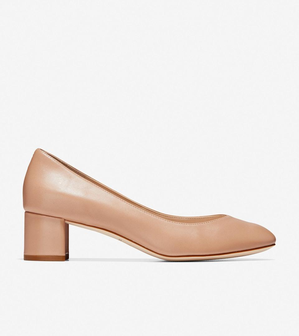 """<br><br><strong>Cole Haan</strong> Lesli Pump, $, available at <a href=""""https://go.skimresources.com/?id=30283X879131&url=https%3A%2F%2Ffave.co%2F2Il7ZIn"""" rel=""""nofollow noopener"""" target=""""_blank"""" data-ylk=""""slk:Cole Haan"""" class=""""link rapid-noclick-resp"""">Cole Haan</a>"""