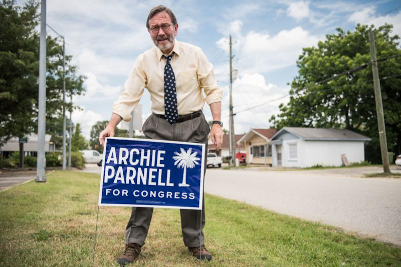 South Carolina Democrat Archie Parnell in 2017, when he unsuccessfully ran for a House seat in a special election. He is trying to win the seat again this year, but details about his past have derailed his campaign.