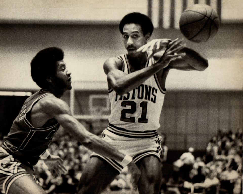 Dave Bing played 12 seasons in the NBA, primarily for the Detroit Pistons (1966–75). He was a seven-time All-Star who in 1996 was named one of the NBA's greatest players of all time. His No. 21 is retired by the franchise, and after basketball he was elected mayor of Detroit in a special election in 2009. Bing won the full-term mayoral election on November 2009, defeating challenger Tom Barrow.