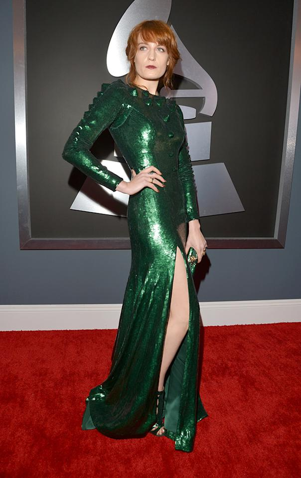 Florence Welch arrives at the 55th Annual Grammy Awards at the Staples Center in Los Angeles, CA on February 10, 2013.