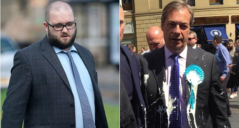 Man to appear in court charged with throwing milkshake at Nigel Farage