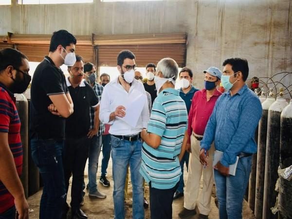 CEO ERA conducted an extensive inspections of medical Oxygen supplying installations in Jammu