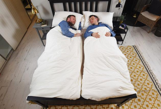 IKEA's new bedding bundle claims to help couples sleep better. (IKEA)