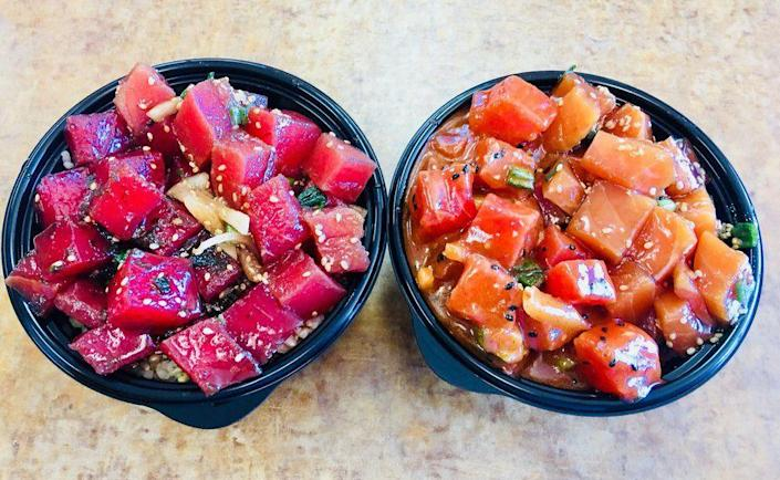 """<p><strong><a href=""""https://www.yelp.com/biz/hawaiian-poke-bowl-st-george"""" rel=""""nofollow noopener"""" target=""""_blank"""" data-ylk=""""slk:Hawaiian Poke Bowl"""" class=""""link rapid-noclick-resp"""">Hawaiian Poke Bowl</a>, St. George</strong></p><p>""""The fish is super fresh and I love all the Hawaiian & Asian flavors that bring it to life! Portions are generous. Service is served with a smile. What more can you ask for?"""" — Yelp user <a href=""""https://www.yelp.com/user_details?userid=LNPyE5X1K5B_flcTCH9StQ"""" rel=""""nofollow noopener"""" target=""""_blank"""" data-ylk=""""slk:Ania K."""" class=""""link rapid-noclick-resp"""">Ania K.</a></p><p>Photo: Yelp/<a href=""""https://www.yelp.com/user_details?userid=LL8EdQFjHKZxllz_rTD95Q"""" rel=""""nofollow noopener"""" target=""""_blank"""" data-ylk=""""slk:H.J K."""" class=""""link rapid-noclick-resp"""">H.J K.</a></p>"""