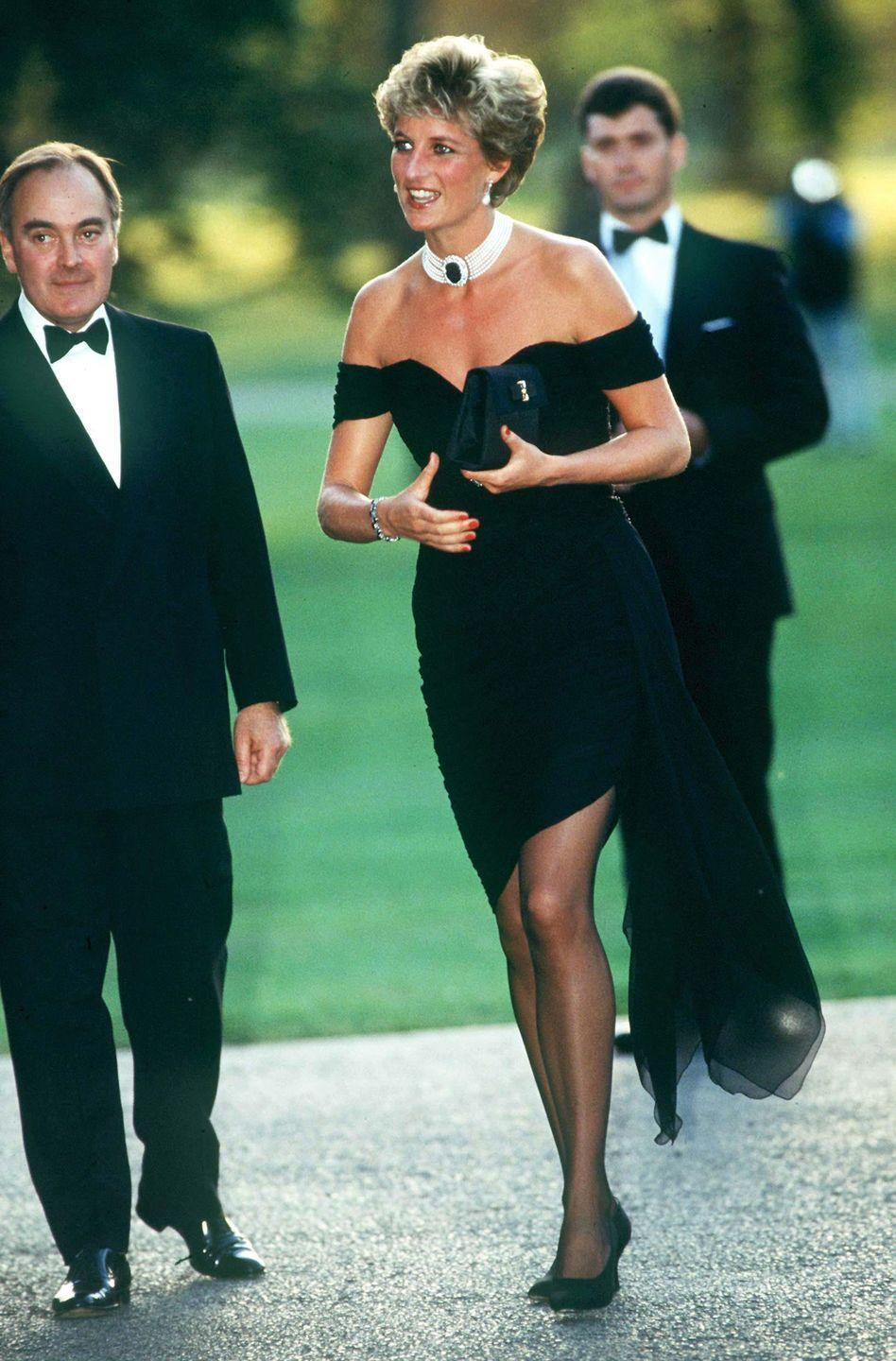 """<p>And finally, that giant sapphire took on new significance as accessory to Princess Diana's infamous <a href=""""https://www.townandcountrymag.com/style/fashion-trends/a36120274/princess-diana-revenge-glamour-trend/"""" rel=""""nofollow noopener"""" target=""""_blank"""" data-ylk=""""slk:revenge dress"""" class=""""link rapid-noclick-resp"""">revenge dress</a> moment in 1994.</p>"""