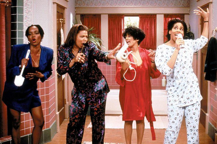 Erika Alexander, Queen Latifah, Kim Fields, Kim Coles in 'Living Single' (Credit: Warner Brothers/Everett Collection)