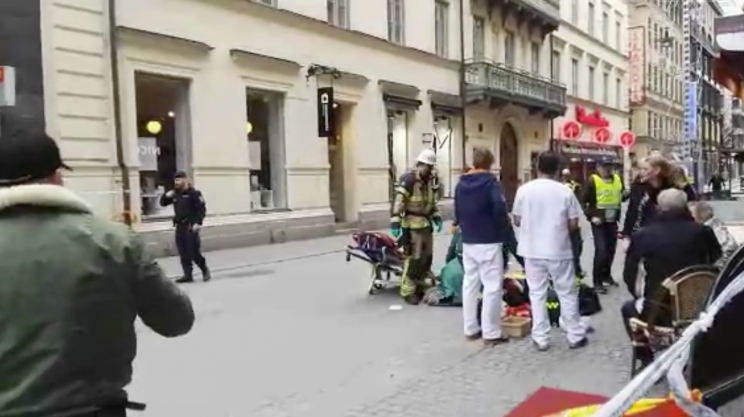 A truck hit a group in Stockholm, killing five (Twitter)