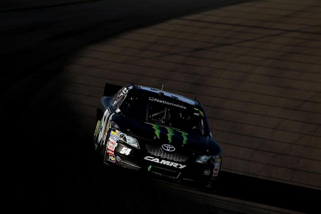 LAS VEGAS, NV - MARCH 10: Kyle Busch drives the #54 Monster Energy Toyota during the NASCAR Nationwide Series Sam's Town 300 at Las Vegas Motor Speedway on March 10, 2012 in Las Vegas, Nevada. (Photo by Ezra Shaw/Getty Images)