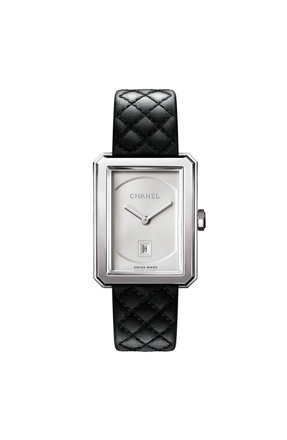 "<p><a class=""link rapid-noclick-resp"" href=""https://go.redirectingat.com?id=127X1599956&url=https%3A%2F%2Fwww.chanel.com%2Fgb%2Fwatches%2Fp%2FH6954%2Fboy-friend-watch%2F&sref=https%3A%2F%2Fwww.harpersbazaar.com%2Fuk%2Ffashion%2Fjewellery-watches%2Fg37474%2Fbest-womens-watches%2F"" rel=""nofollow noopener"" target=""_blank"" data-ylk=""slk:SHOP NOW"">SHOP NOW</a></p><p>Chanel's boxy Boy.Friend watch only launched in 2015, but it's already considered a fashion classic. Its name refers to the couturière's love for appropriating masculine tailoring and fabrics into her own designs and its octagonal case is a nod to the iconic Chanel No.5 bottle stopper, itself a riff on the graphic outline of Paris' Place Vendôme. </p><p>This year's model features an engraved guilloché dial, a black quilted leather strap (a nod to yet another house staple, the brand's quilted leather handbags) and a black spinel cabochon set into its crown. Very chic. Very Chanel. </p><p>Boy.Friend watch in steel, £3,700, <a href=""https://go.redirectingat.com?id=127X1599956&url=https%3A%2F%2Fwww.chanel.com%2Fgb%2Fwatches%2Fp%2FH6954%2Fboy-friend-watch%2F&sref=https%3A%2F%2Fwww.harpersbazaar.com%2Fuk%2Ffashion%2Fjewellery-watches%2Fg37474%2Fbest-womens-watches%2F"" rel=""nofollow noopener"" target=""_blank"" data-ylk=""slk:Chanel"" class=""link rapid-noclick-resp"">Chanel</a></p>"