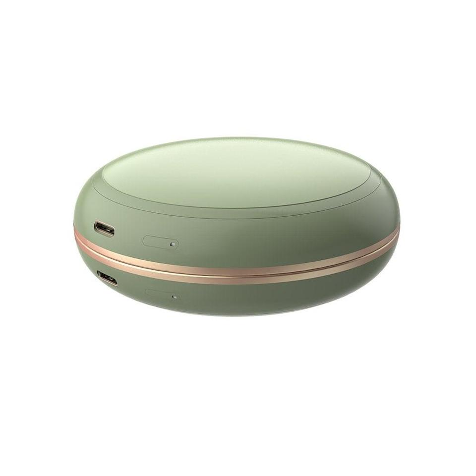 """<h3><h2>Irene Inevent Multifunctional Hand Warmer, Mirror, and Power Bank</h2></h3>Keep your tech goods charged, your hand warm, and your makeup on point while traveling with this 3-in-1 external charger.<br><br><em>Shop</em> <a href=""""https://www.walmart.com/search?query=irene+inevent&redirect=false"""" rel=""""nofollow noopener"""" target=""""_blank"""" data-ylk=""""slk:Irene Inevent"""" class=""""link rapid-noclick-resp""""><strong><em>Irene Inevent</em></strong></a> <br><br><strong>Irene Inevent</strong> Multifunctional Hand Warmer Mirror Power Bank, $, available at <a href=""""https://go.skimresources.com/?id=30283X879131&url=https%3A%2F%2Fwww.walmart.com%2Fip%2F3-in-1-Multifunctional-Hand-Warmer-Travel-Makeup-Mirror-Portable-Quick-Heating-Power-Bank-Green%2F298362102"""" rel=""""nofollow noopener"""" target=""""_blank"""" data-ylk=""""slk:Walmart"""" class=""""link rapid-noclick-resp"""">Walmart</a>"""