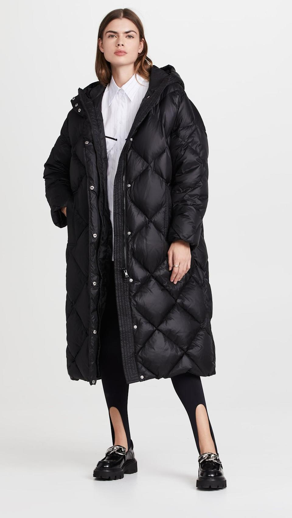 <p>Super cold days don't stand a chance against this <span>Stand Studio Farrah Coat</span> ($850). It's a long puffer we're actually excited to wear.</p>