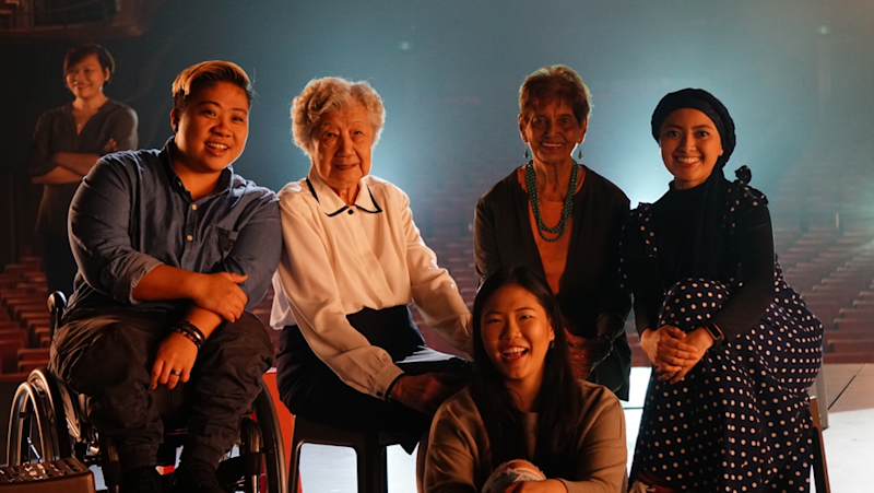 (From left) Theresa Goh, Paralympics swimmer; Tang Pui Wah, Singapore's first female Olympics athlete; Annabelle Kwok, technopreneur; Mary Klass, pioneer female Olympics athlete; and Dhaniah Suhana, interfaith relations champion. (PHOTO: SidexSide Photography)