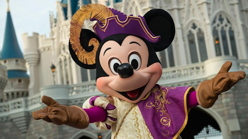 Mickey Mouse at Cinderella's Castle