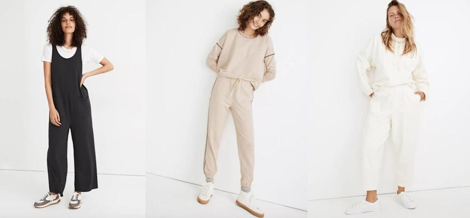 If you've been looking for sustainable sweatpants, turn to Madewell's new athleisure collection.  (Photo: Madewell )
