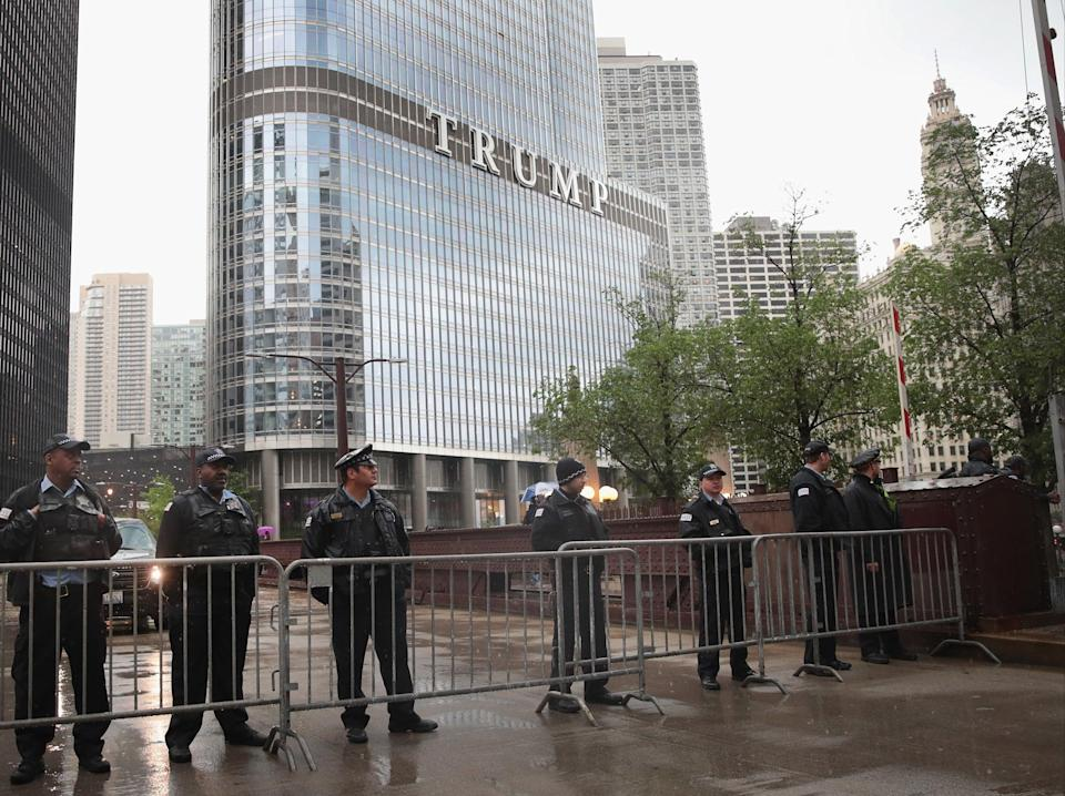File image: A man has climbed Trump Tower in Chicago, demanding a meeting with President Trump (Getty Images)