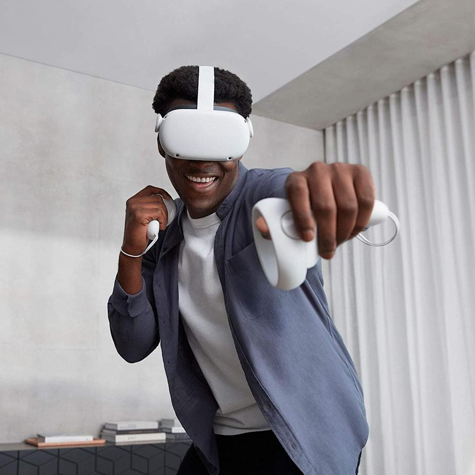 <p>The <span>Oculus Quest 2 - Advanced All-In-One Virtual Reality Headset</span> ($299) is a special gift for virtual reality fans.</p>