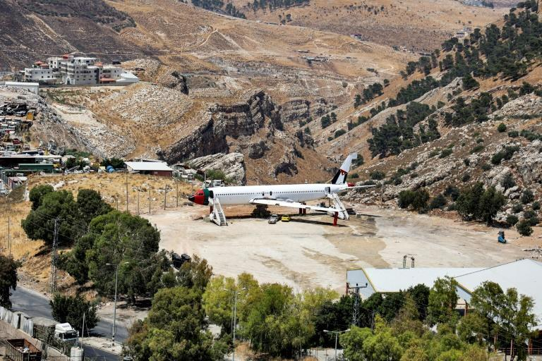 Electricians and painters in Wadi Al-Badhan near Nablus in the occupied West Bank are working on the aircraft, readying it for its new launch as a restaurant