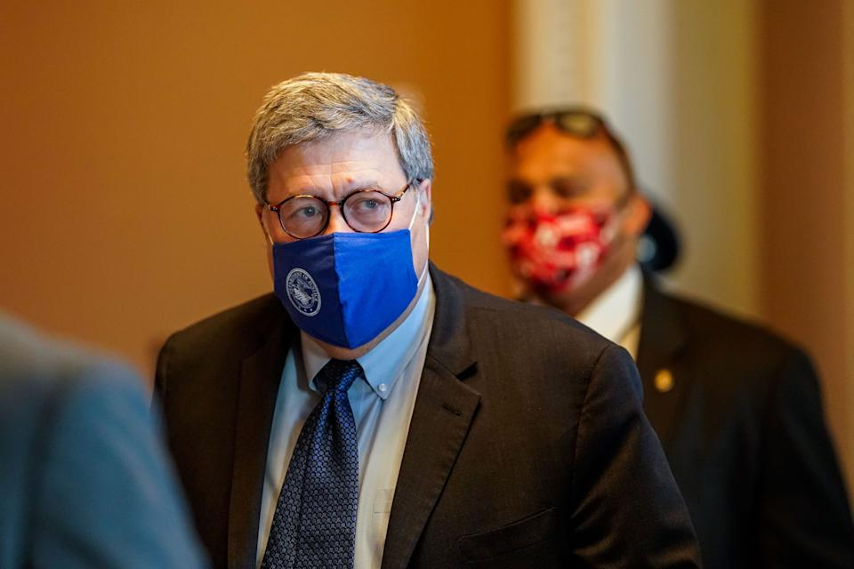Attorney General William Barr is one of the Trump officials who promoted fear about election fraud in the first place. (Photo: Kent Nishimura / Los Angeles Times via Getty Images)