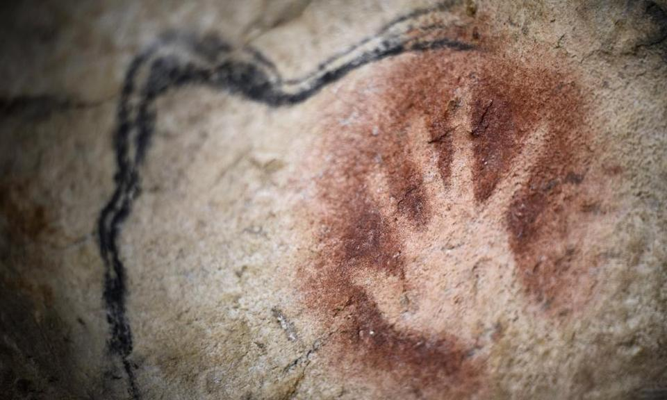 Reaching back in time … Caverne du Pont-d'Arc, a replica of Chauvet Cave in France.