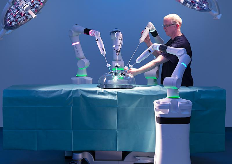 The company wants to bring 'minimal access surgery' to hospitals around the world. Photo: CMR Surgical