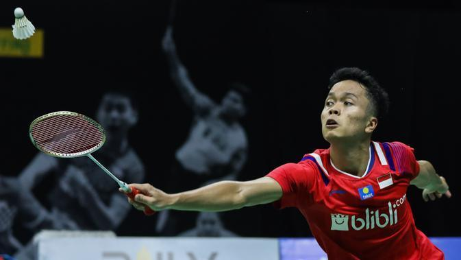 Penampilan Anthony Sinisuka Ginting pada Mola TV PBSI Home Tournament, Rabu (8/7/2020). (PBSI)