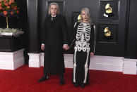 Jackson Bridgers, left, and Phoebe Bridgers arrive at the 63rd annual Grammy Awards at the Los Angeles Convention Center on Sunday, March 14, 2021. (Photo by Jordan Strauss/Invision/AP)