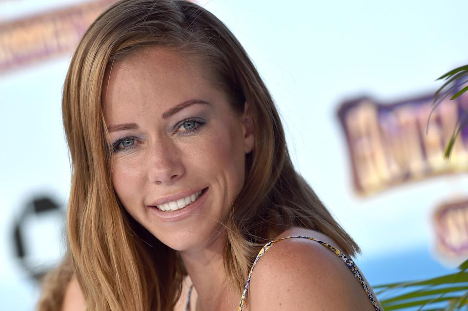 Kendra Wilkinson attends the premiere of <em>Hotel Transylvania 3: Summer Vacation</em> in Westwood, Calif., June 30, 2018. (Photo: Axelle/Bauer-Griffin/FilmMagic)