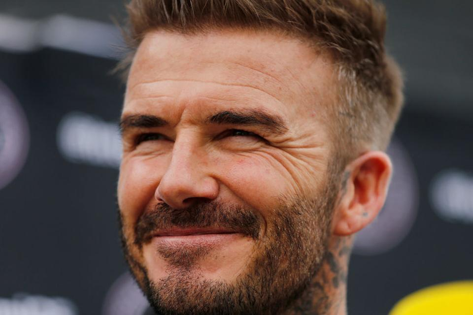 David Beckham has taken up a new hobby in lockdown, pictured in February 2020. (Getty Images)