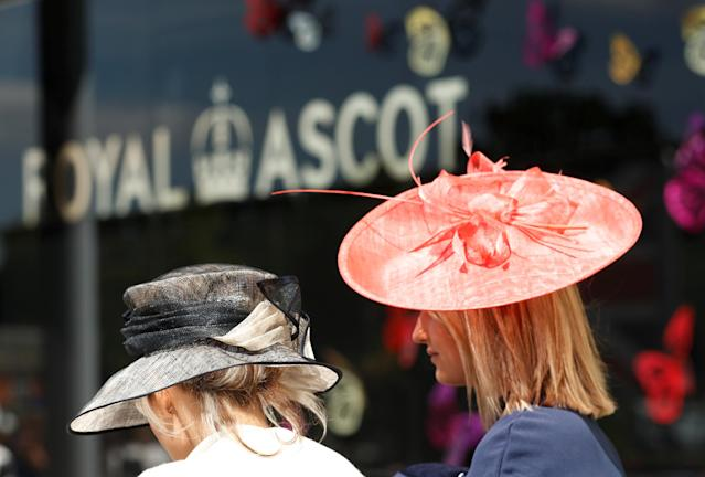 Horse Racing - Royal Ascot - Ascot Racecourse, Ascot, Britain - June 21, 2018 Racegoers before the start of the racing Action Images via Reuters/Andrew Boyers