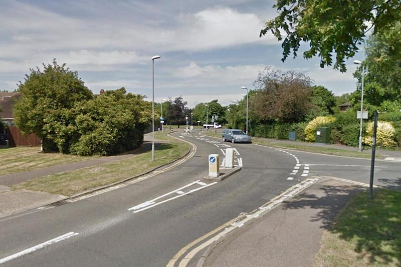 The stabbing took place on Hunters Road in Chessington: Google