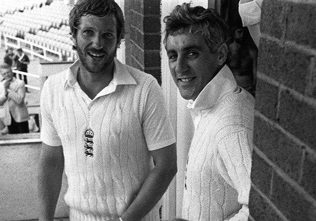 Botham (left) was revitalised by Brearley (right).