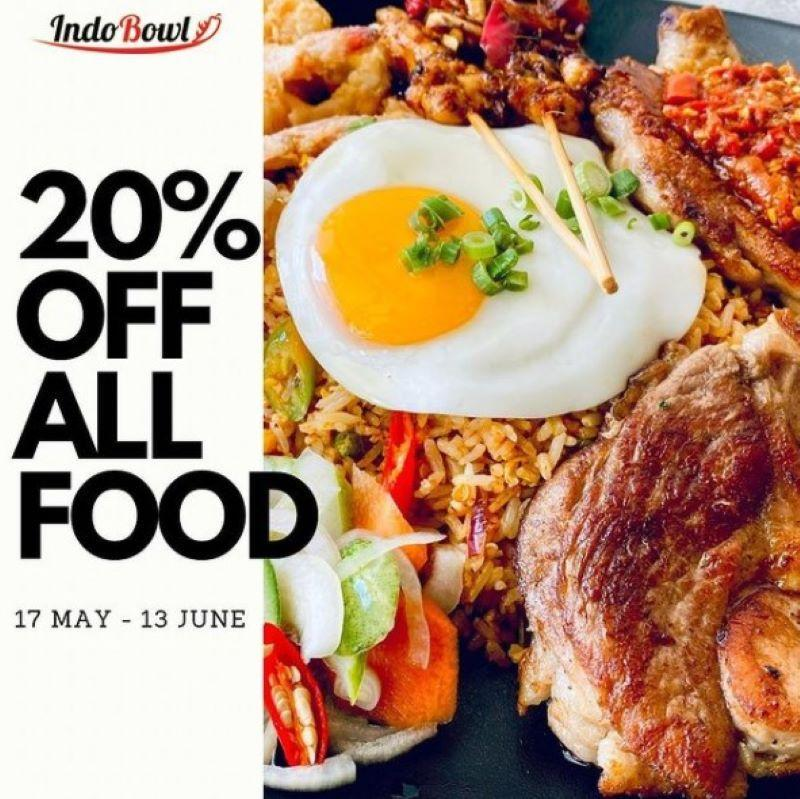 Indobowl 20% discount banner