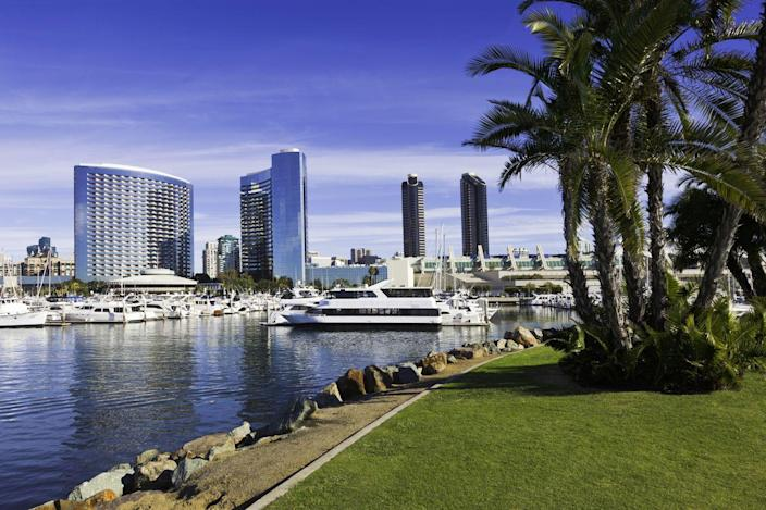 """<p><strong>Established in:</strong> 1769</p><p>San Diego is the <a href=""""https://www.britannica.com/place/San-Diego-California"""" rel=""""nofollow noopener"""" target=""""_blank"""" data-ylk=""""slk:second largest city"""" class=""""link rapid-noclick-resp"""">second largest city</a> in the state and sits just north of Mexico. Back in the 16th century, the Diegueño, Luiseño, Cahuilla, and Cupeño peoples were some of the first settlers in the area. It was named after explorer Juan Rodríguez Cabrillo, but later was renamed for Spanish monk San Diego de Alcalá de Henares in 1602. </p>"""