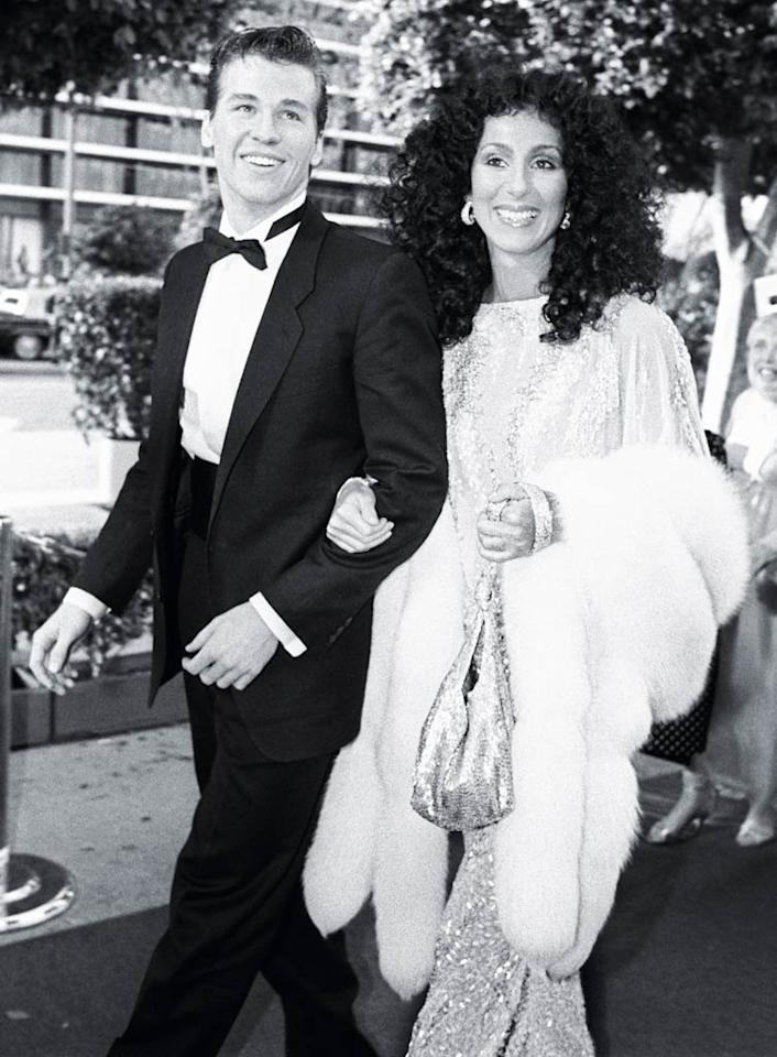"<b>1983:</b> She arrived at the Oscars with date Val Kilmer. ""I had clear braces on my teeth, and I hated them! That Mackie dress was gorgeous. I also had a fox stole."" And a fox on her arm too. ""He was a really handsome boy.""   <a href=""http://www.instyle.com/instyle/package/transformations/photos/0,,20290121_20331288_20719623,00.html?xid=omg-cher-gaga-trans?yahoo=yes"" target=""new"">Check Out Lady Gaga's Style Transformation</a> Conde Nast Archive/Corbis"