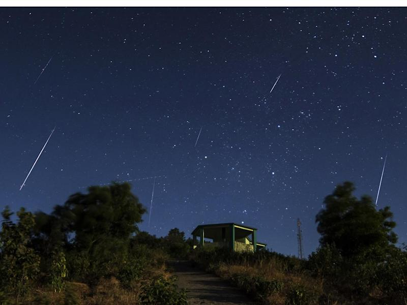 A view of the Geminid meteor shower: Asim Patel/Wikimedia
