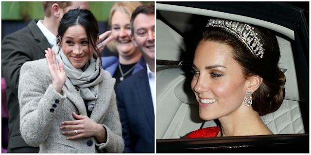 """Meghan and Kate both really stood out and got significantly higher marks than the three other princesses on the """"golden ratio."""" (Photo: Getty)"""