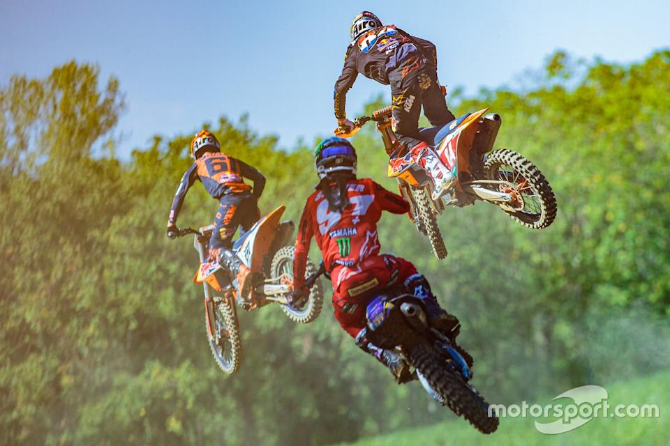 "Jorge Prado, Red Bull KTM Factory Racing, Jeremy Seewer, Monster Energy Wilvo Yamaha Factory Racing y Jeffrey Herlings, Red Bull KTM Factory Racing<span class=""copyright"">Niek Fotografie</span>"
