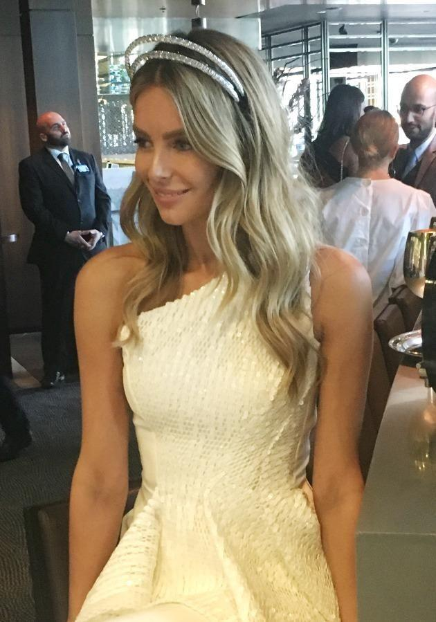 Jennifer Hawkins needed additional security to protect her whopping $3 million diamond headpiece. Source: Be