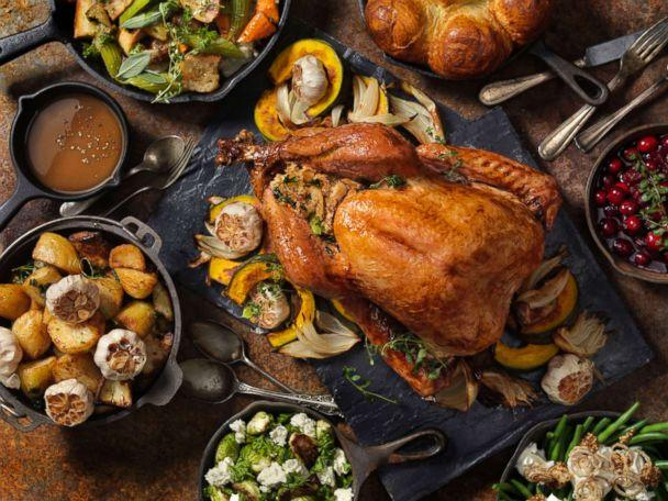 PHOTO: Stock photo of a dinner table filled with Thanksgiving foods. (STOCK PHOTO/Getty Images)