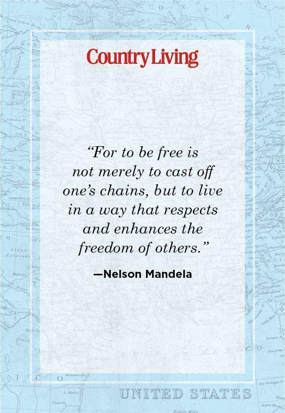 """<p>""""For to be free is not merely to cast off one's chains, but to live in a way that respects and enhances the freedom of others.""""</p>"""