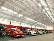 A line of Porsche cars at Singapore F1. (PHOTO: Yahoo Lifestyle Singapore)