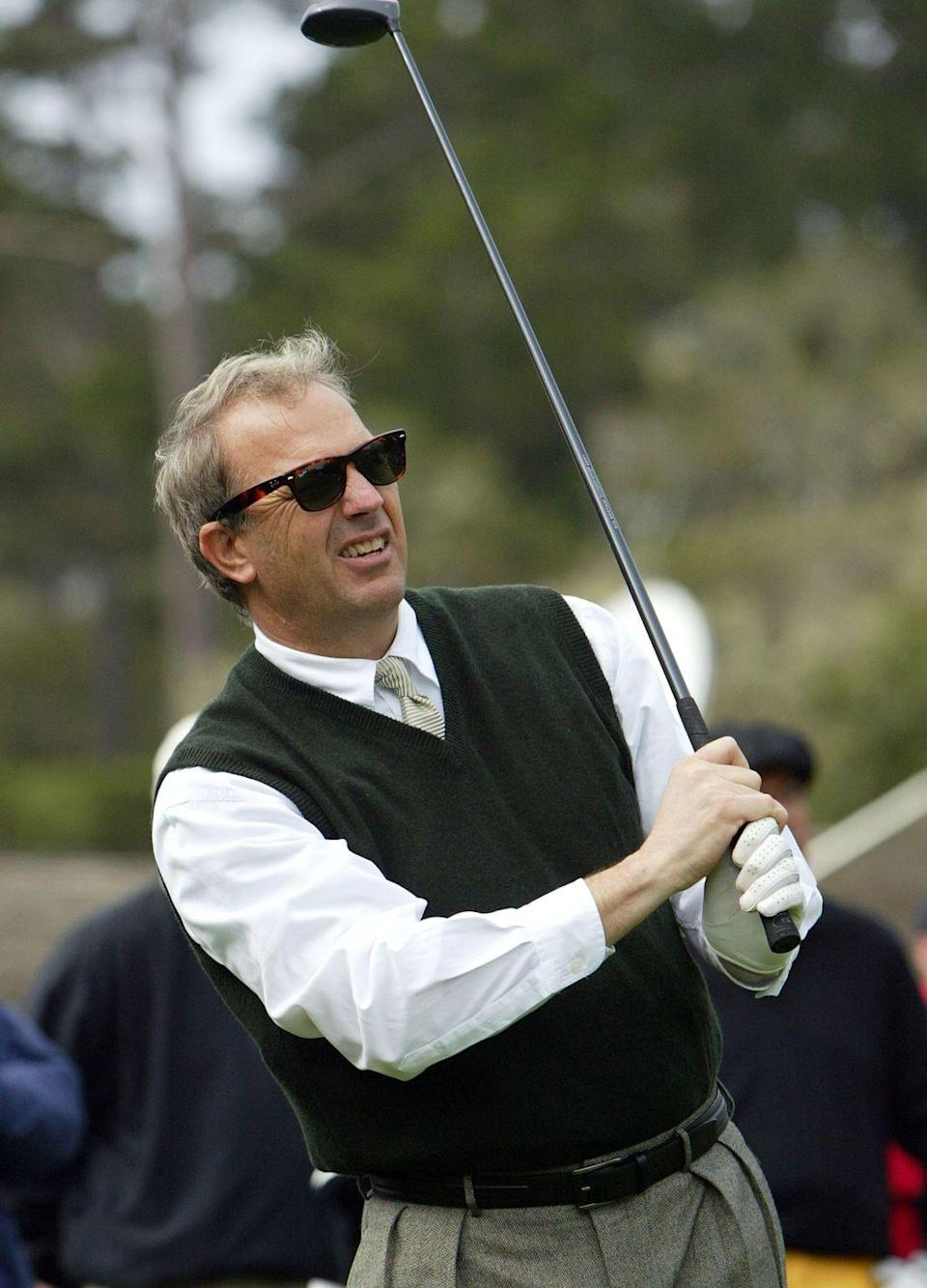 <p>Kevin Costner, a.k.a Tin Cup, at the AT&T Pro Shoot Out and Celebrity Golf in 2004.</p>