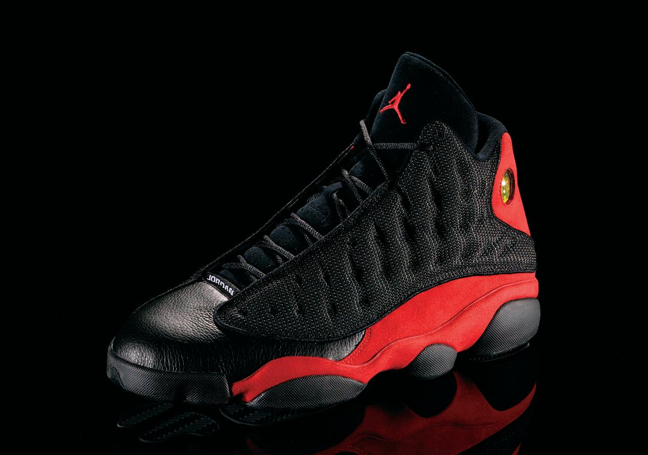 "<p>Air Jordan XIII - ""Black Cat Pounces"" (1998): Who knew that ""Black Cat"" was Jordan's secret nickname? Not the designer. (Photo Courtesy of Nike)</p>"