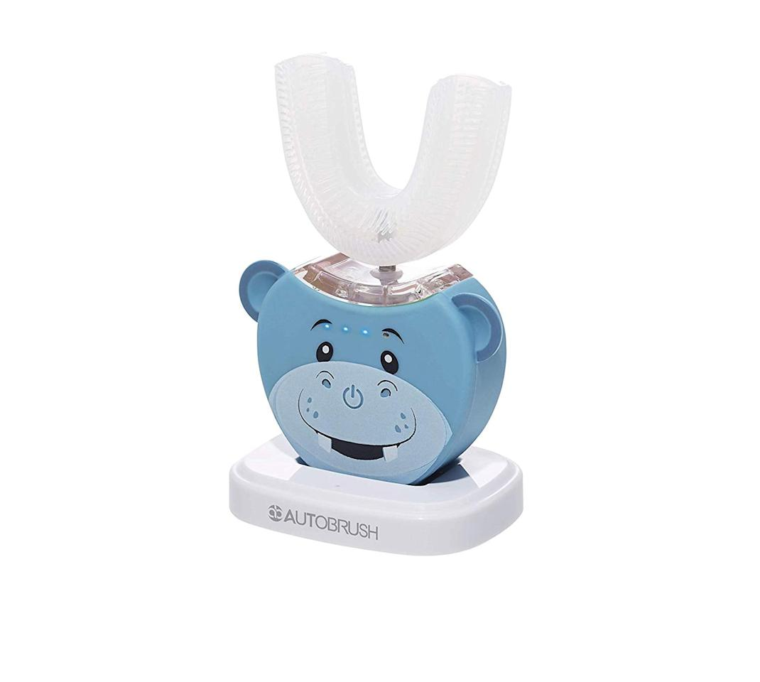 """<p><a href=""""https://www.popsugar.com/buy/Harley-Hippo-AutoBrush-Kids-539438?p_name=Harley%20the%20Hippo%20AutoBrush%20For%20Kids&retailer=amazon.com&pid=539438&price=79&evar1=moms%3Aus&evar9=47101567&evar98=https%3A%2F%2Fwww.popsugar.com%2Fphoto-gallery%2F47101567%2Fimage%2F47101570%2FHarley-Hippo-AutoBrush-For-Kids&list1=toddlers%2Clittle%20kids%2Ctooth%20care%20%26%20mouth%20care%2Cmornings%2Cmorning%20routines&prop13=api&pdata=1"""" rel=""""nofollow"""" data-shoppable-link=""""1"""" target=""""_blank"""" class=""""ga-track"""" data-ga-category=""""Related"""" data-ga-label=""""https://www.amazon.com/AutoBrush-Electric-Toothbrush-Specially-Characters/dp/B07PM94SN9?th=1"""" data-ga-action=""""In-Line Links"""">Harley the Hippo AutoBrush For Kids</a> ($79)</p>"""