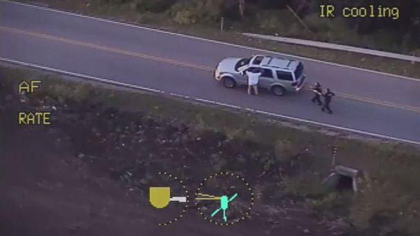 PHOTO: Video released by the Tulsa Police Department shows the moments before 40-year-old Terence Crutcher was shot by a police officer Friday night. (Tulsa Police Department)