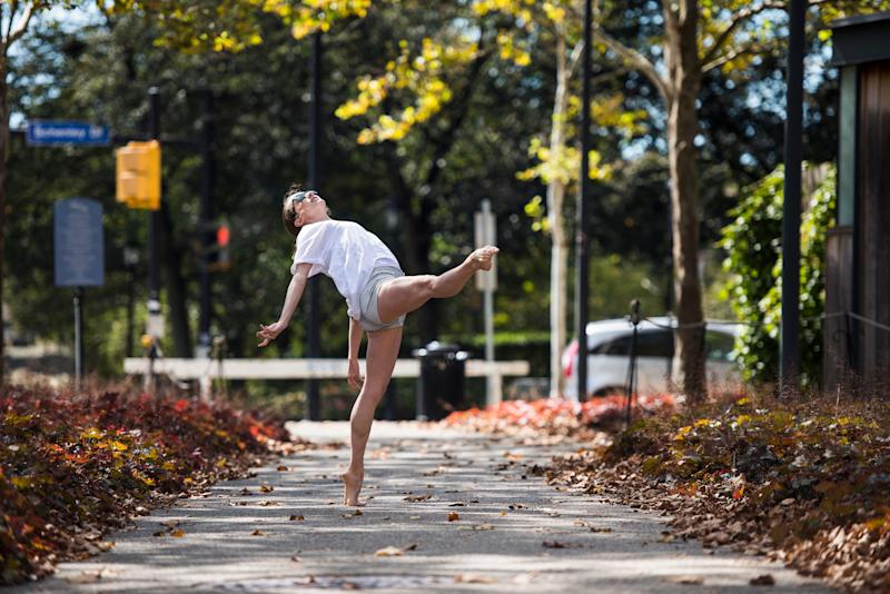 Jessica McCann of the Pittsburgh Ballet Theatre shows off her dance moves.