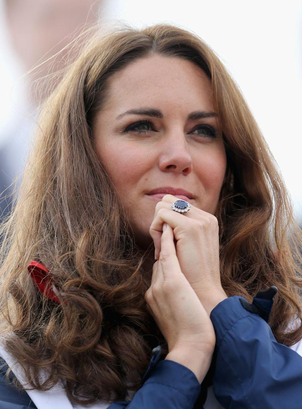 <p>When Prince William proposed to Kate Middleton in 2010, the world was delighted to see that he passed on Princess Diana's sapphire and diamond engagement ring. The Duchess has since made the iconic ring her own and wears it without fail—whether she's dressed formally or casually. </p>