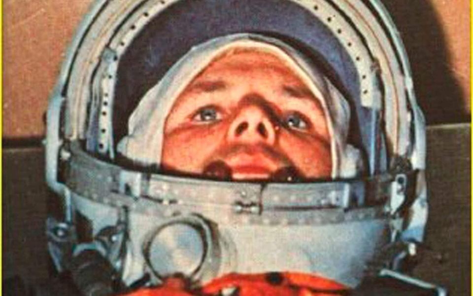 Yuri Alexeyevich Gagarin in the Vostok 1 command capsule 60 years ago - HO/AFP via Getty Images