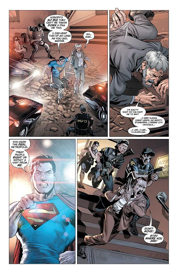 Action Comics #1, page 8 © 2011 DC Entertainment